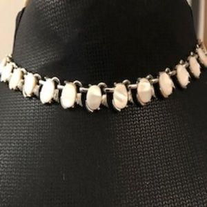 Vintage Silver and Pearl Necklace